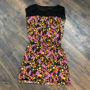 ELLA MOSS Floral and Lace Mini Dress SZ M